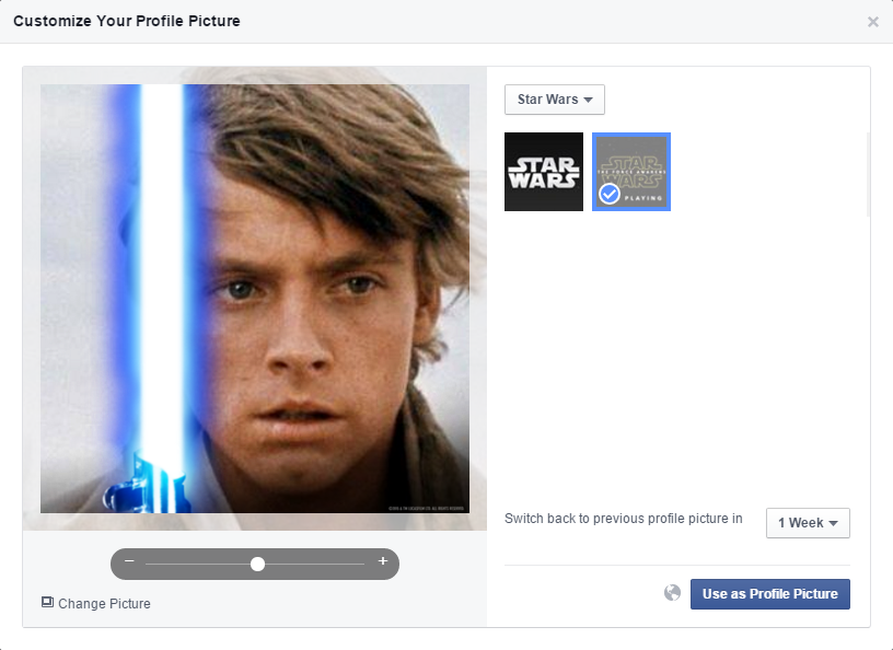 Facebook Star Wars